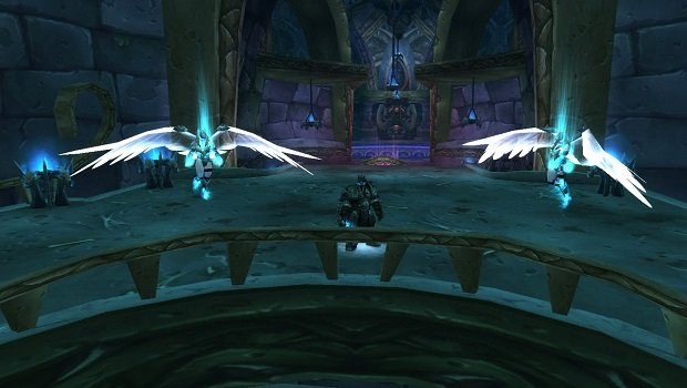 The Lich King with his valkyr