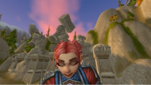 gnome eyes closed selfie