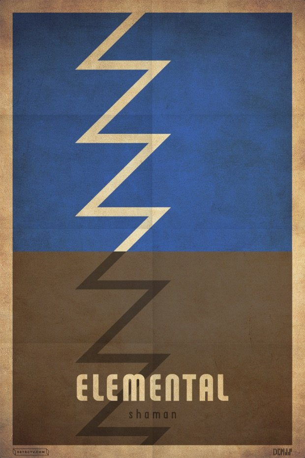 blizzcrafts minimalist shaman poster