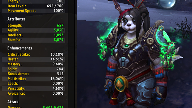Brewmaster monk secondary stats