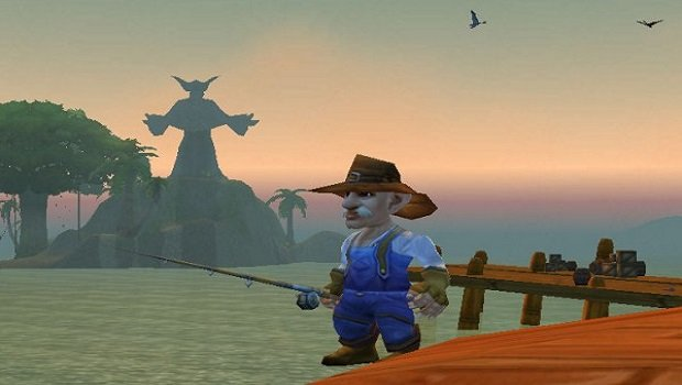 gnome fishing in booty bay