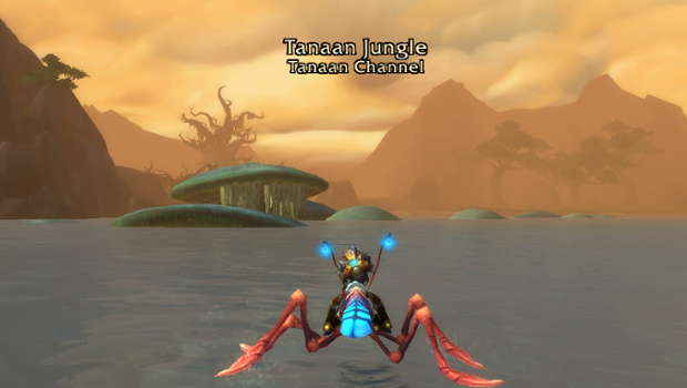 tanaan jungle from the water