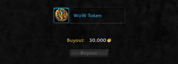 wow token auction house