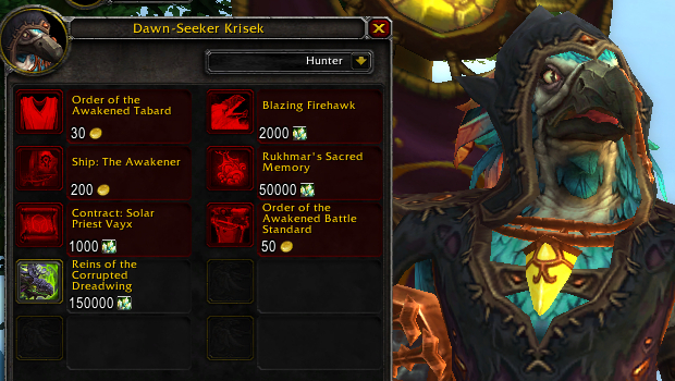 order of the awakened tanaan jungle rep vendor