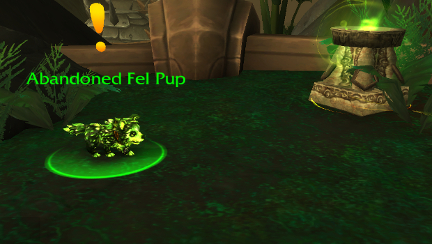 fel pup quest pet battle