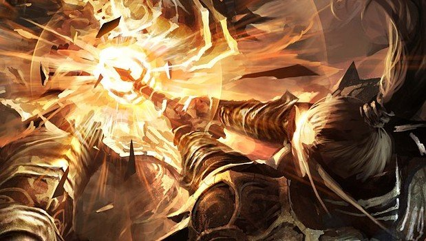 A paladin smites an undead foe with the Light.