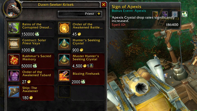 how to get apexis crystals fast