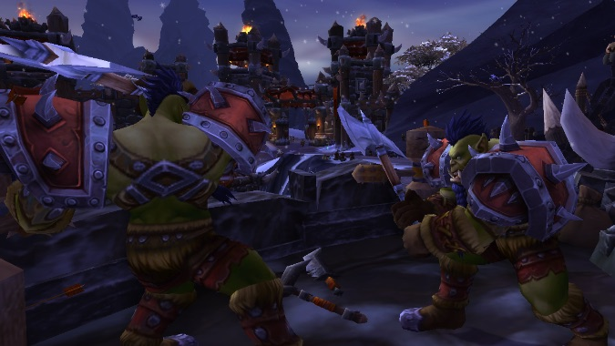 horde garrison barracks orcs fighting