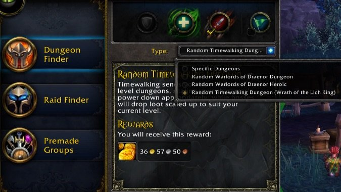 timewalking dungeon finder
