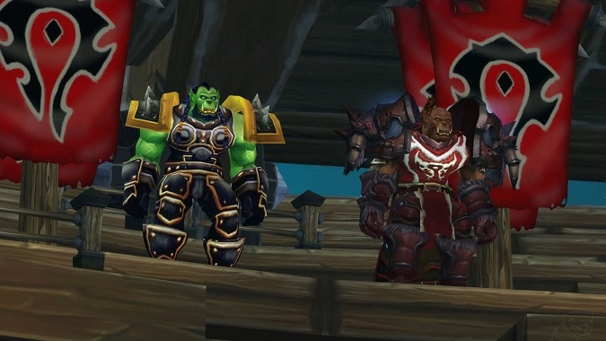 thrall and garrosh in crusaders coliseum