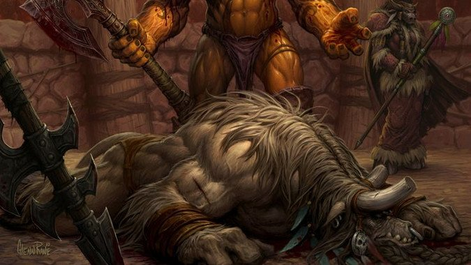 the life and death of cairne bloodhoof in wow