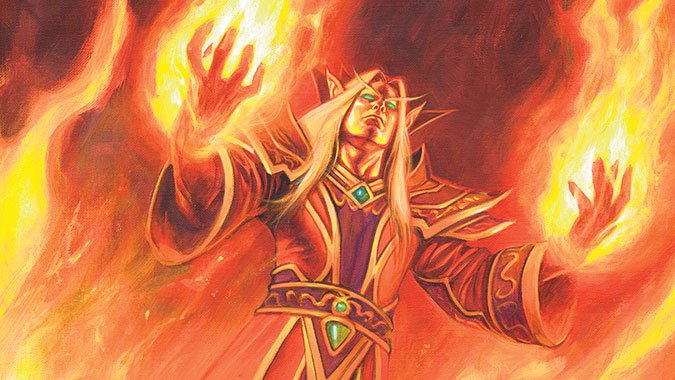 Blood Elf Fire Mage