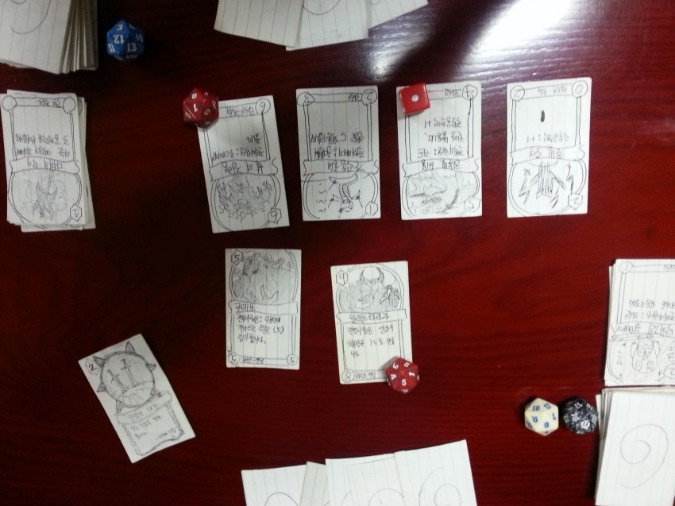 paper hearthstone game in progress