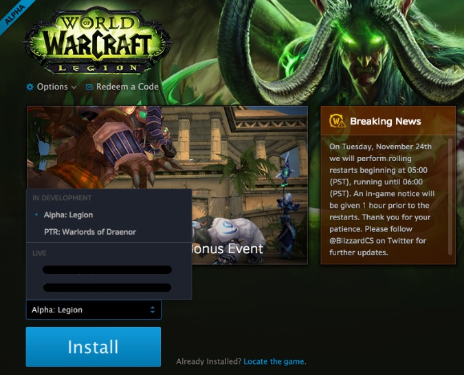 legion alpha launcher
