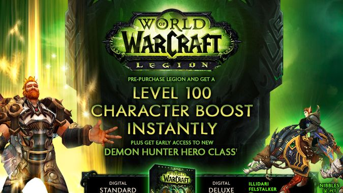 Legion pre-orders to get level 100 character, early access to Demon Hunters, releases before Sept. 21, 2016