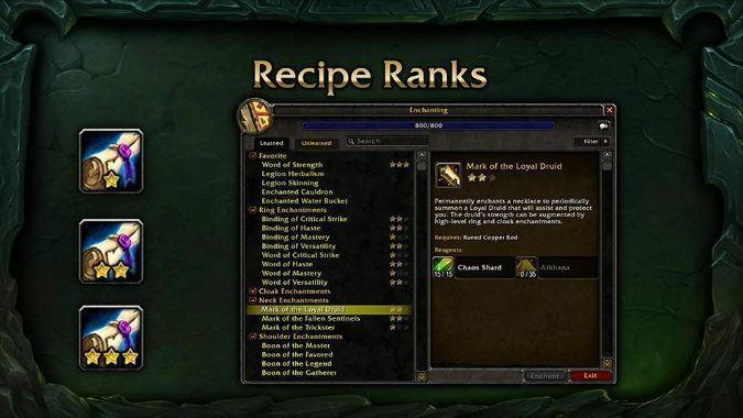 Druid Crafting Guide