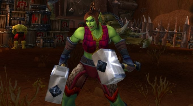 I put a lot of Draenei in here, but I really like Draenei. Here, have an orc.