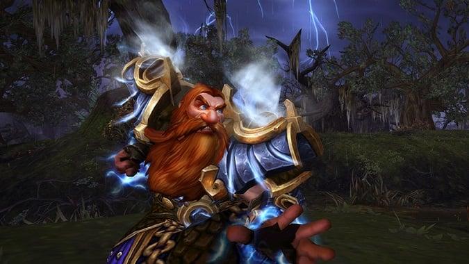 legion shaman casting a lightning spell