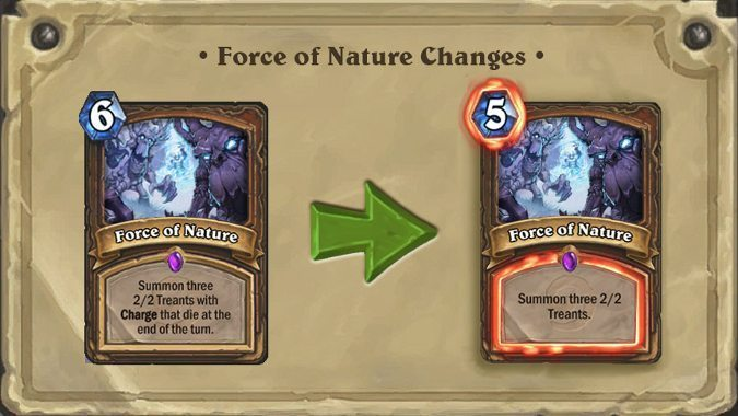 Hearthstone nerfs select Basic and Classic cards