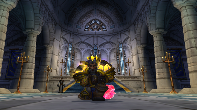 paladin kneeling in Cathedral of Light