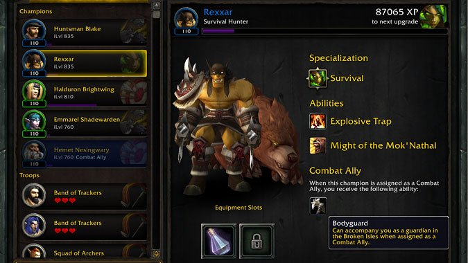 Locked And Loaded Previewing The Hunter Class Hall And Champions