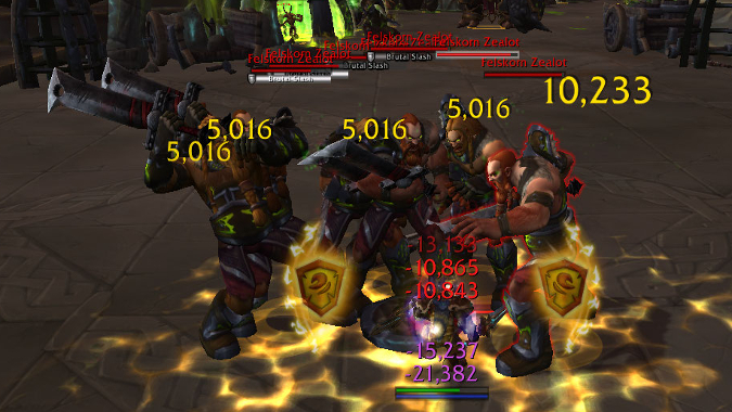 Prot Paladin fighting many mobs
