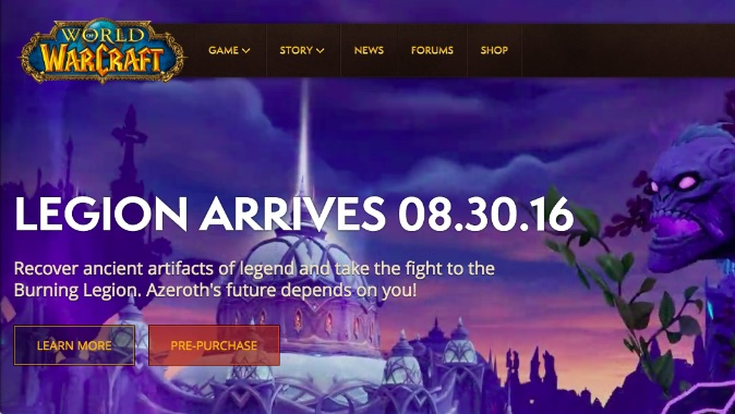 blizzard website