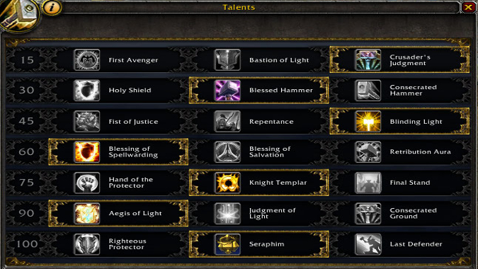 Best Build For Prot Pally Wow