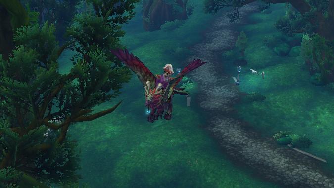 Monk flying in val'sharah on flight path awaiting Legion flying