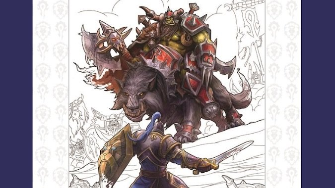 Theres Now An Official Warcraft Coloring Book