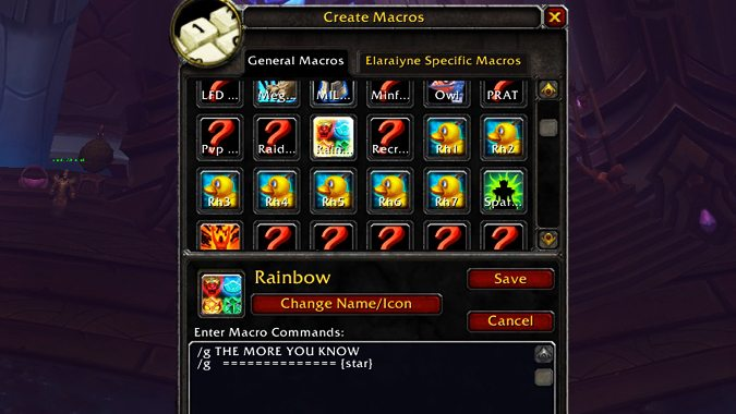 How to make macros in the WoW Classic...