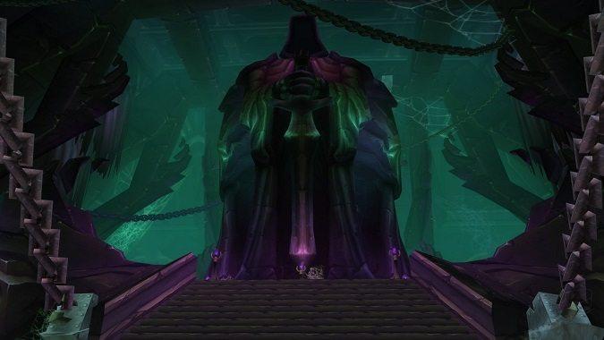 black temple statue
