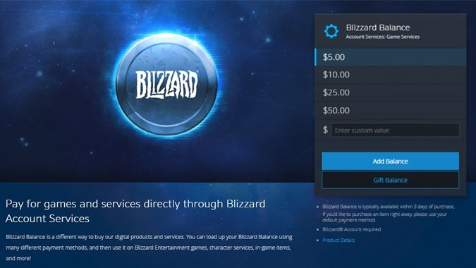 Blizzard Balance Can Now Be Gifted But Not From Your Own Blizzard