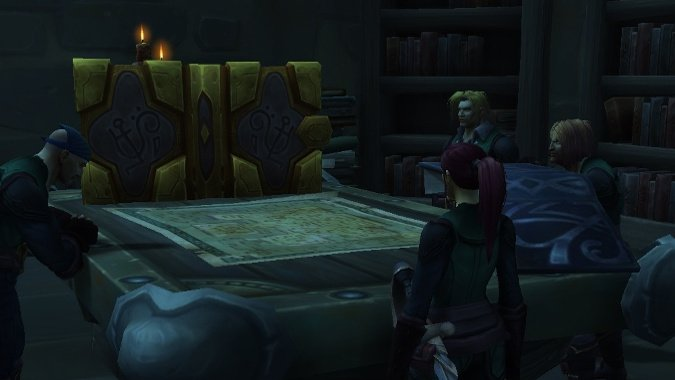Yes, D&D exists in World of Warcraft