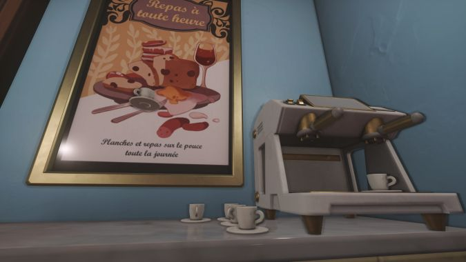 A gallery of all the delicious food and drinks in Overwatch's (strangely cheese-less) new Paris map