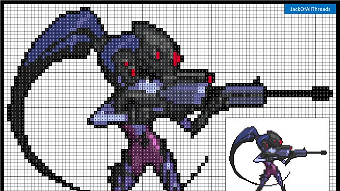 Redditor turned Overwatch sprays into easy-to-follow pixel patterns for crafting