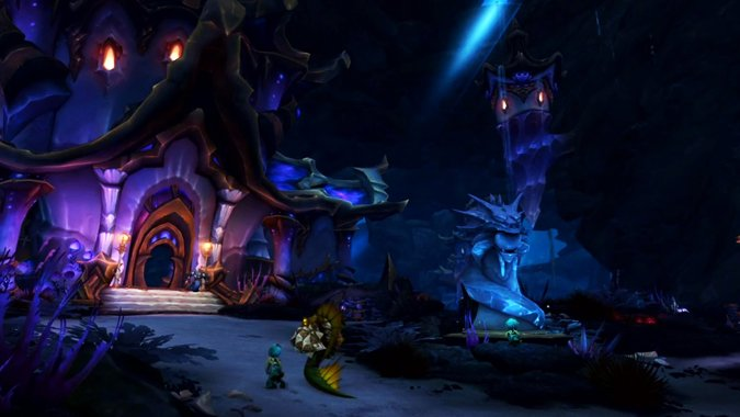 Check out Mechagon and Nazjatar, the new zones we'll explore