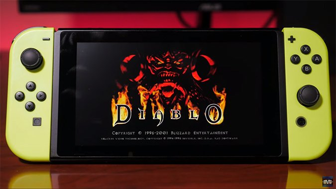 The original Diablo is playable on the Nintendo Switch