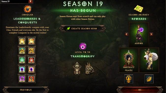 Diablo 3 Season 19 Summary